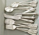 Pottery Barn Antique Silver Sentiment Flatware