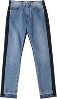 MSGM Denim Two Tone Straight Leg Jeans