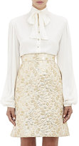 Dolce & Gabbana Women's Tieneck Blouse-White