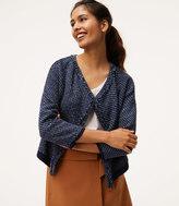 LOFT Petite Fringe Knit Jacket