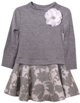 Iris & Ivy Baby Girls Ribbed Floral Drop Waist Dress