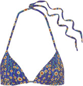 Etoile Isabel Marant Reversible printed triangle bikini top