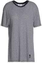 Zoe Karssen Striped Linen-Blend Jersey T-Shirt