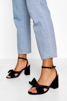 boohoo Bow Front Low Block Heel Two Parts