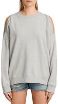 AllSaints Unai Cold-Shoulder Sweatshirt