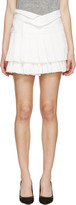 Isabel Marant White Pleated Kyler Skirt