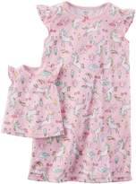 Carter's Girls 4-14 Night Gown & Doll Dress Set