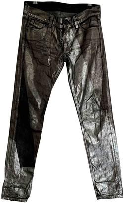 Diesel Black Gold Silver Cotton Jeans for Women