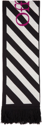 Off-White Black and White Diag Arrows Scarf