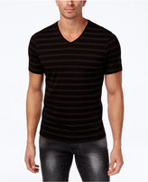 INC International Concepts Men's Stretch V-Neck Striped T-Shirt, Only at Macy's