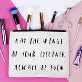Elsie & Nell 'May The Wings Of Your Eyeliner...' Makeup Bag
