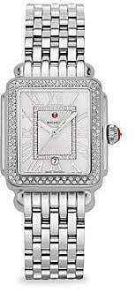 Michele Deco Madison Mid Stainless-Steel Diamond Bracelet Watch