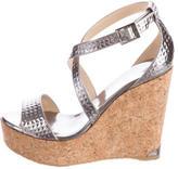 Jimmy Choo Metallic Portia 120 Sandals