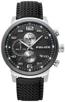 Police Bromo Men's Black Silicone Strap Watch