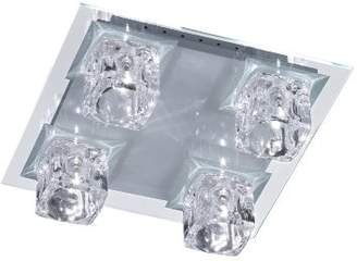 Halogen Wofi Action 992905060000 84 Watt Vision Ceiling Light, Glass