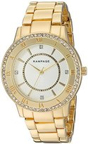 Rampage Women's 'Crystal Dial Band' Quartz Metal and Alloy Watch, Color:Gold -Toned (Model: RP1124GD)