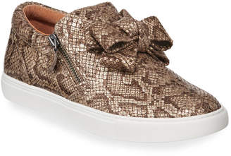 Gentle Souls Hale Ribbon Snake-Print Slip-On Sneakers