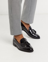 House Of Hounds House of Hounds arrow tassel loafers in black patent