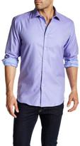 Bugatchi Polka Dot Long Sleeve Shaped Fit Shirt