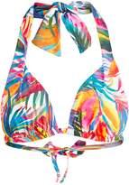 Ralph Lauren Palm-Print Halter Bikini Top