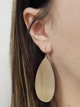 Irene Neuwirth Large Pear Rose Gold Earrings