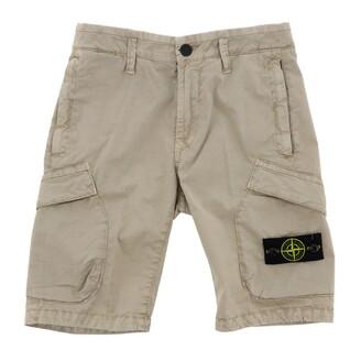 Stone Island Junior Shorts With Logo