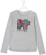 Little Marc Jacobs teen long sleeve logo embroidered T-shirt