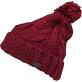 Firetrap Womens Cable Knit Bobble Hat Purple Fuchsia