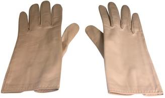 Hermã ̈S HermAs Ecru Leather Gloves