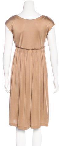 Tomas Maier V-Neck Sleeveless Dress