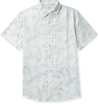 Faherty Playa Button-Down Collar Printed Cotton Shirt