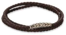 David Yurman Triple-Wrap Ojime Chevron Bracelet