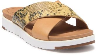 UGG Kari Exotic Snake Embossed Slide Sandal