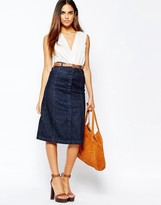 Warehouse Midi A Line Skirt