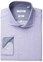 Isaac Mizrahi Men's Slim Fit Fancy Cut Away Collar Dress Shirt