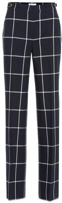 Gabriela Hearst Leda checked high-rise flared wool pants