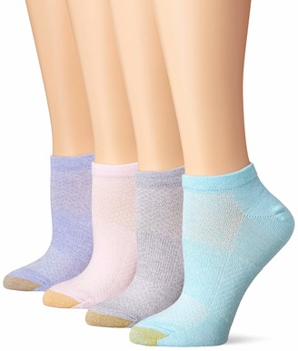 Gold Toe Women's No Show Sport Socks with Arch Support 6 Pairs