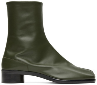 Maison Margiela Green Low Heel Tabi Boots