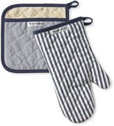 Williams-Sonoma Williams Sonoma Bay Stripe Mitt & Potholder Set, Navy