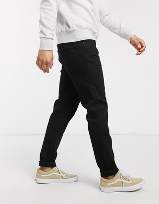Weekday Sunday relaxed tapered jeans in black