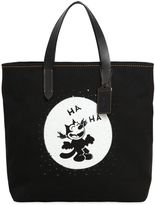 Coach Felix Laughing Canvas Tote Bag