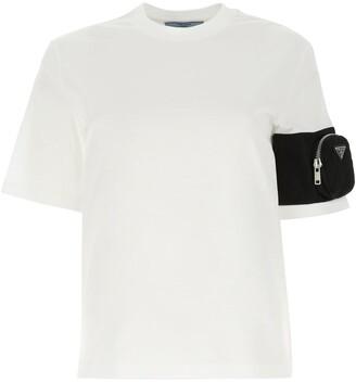 Prada Gabardine Pouch Jersey T-Shirt
