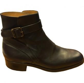 Jm Weston Blue Leather Boots