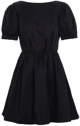 STAUD Alix cotton-blend faille minidress