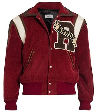 Rhude Wool & Leather Varsity Jacket
