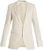 Saint Laurent Peak-lapel single-breasted wool-blend blazer