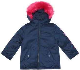 Kenzo Kids Faux fur-trimmed jacket