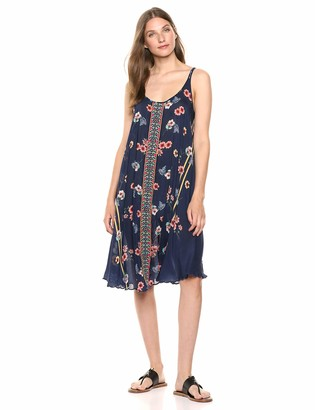 Johnny Was Women's Tank Dress with Embroidered Trim