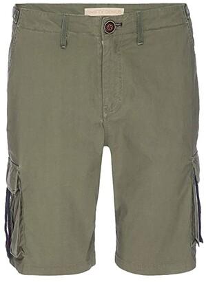 Nifty Genius Cargo Shorts (Olive) Men's Clothing