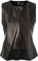 Eleventy panelled sleeveless top